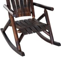 Rustic Outdoor Patio Adirondack Rocking Chair
