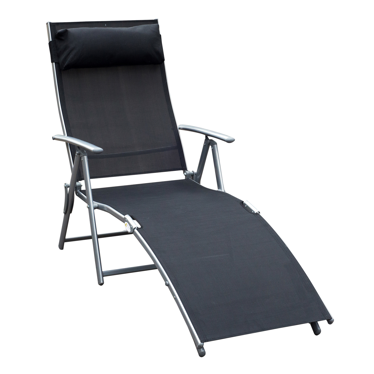 Beach Lounger Chair Chaise Lounge Chair Folding Pool Beach Yard Adjustable