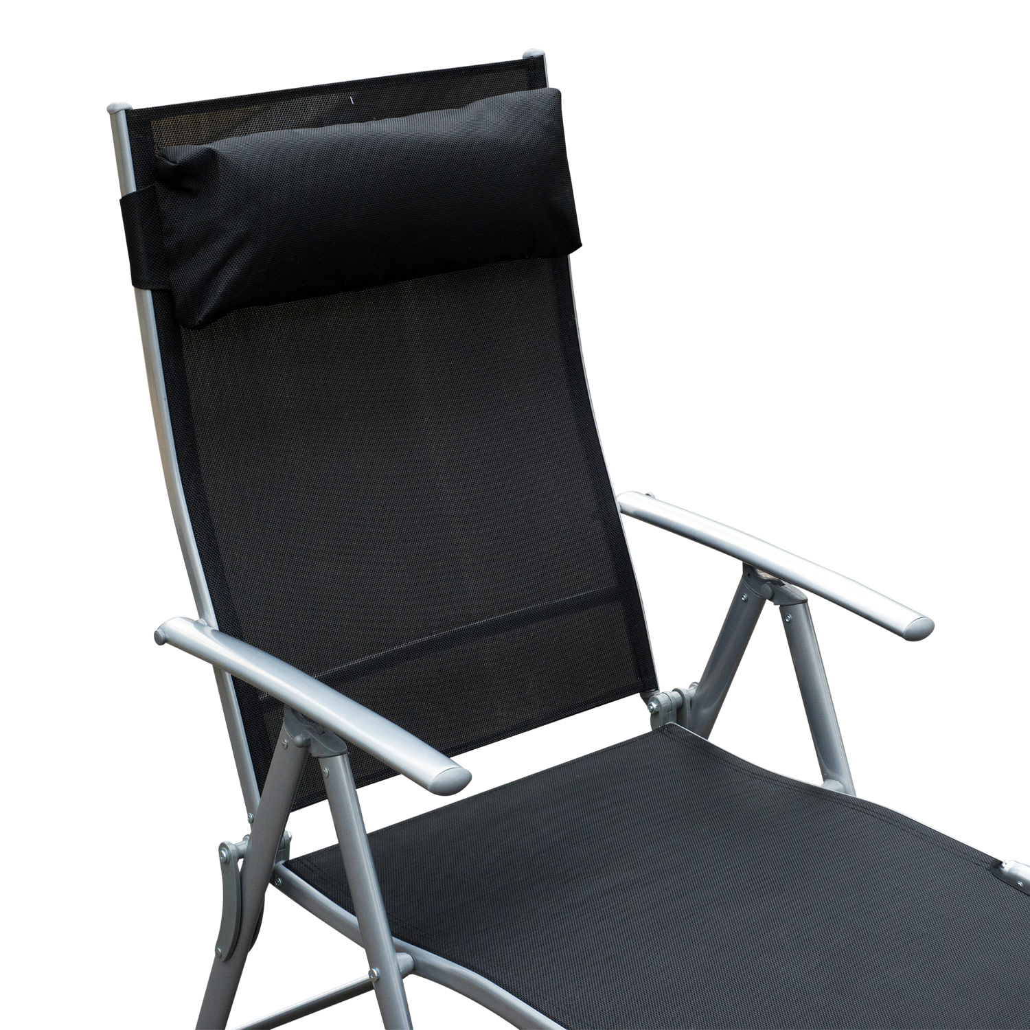 Lawn Chair Lounger Chaise Lounge Chair Folding Pool Beach Yard Adjustable