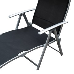 Recliner Lawn Chairs Folding Rocking Chair Leather Chaise Lounge Pool Beach Yard Adjustable