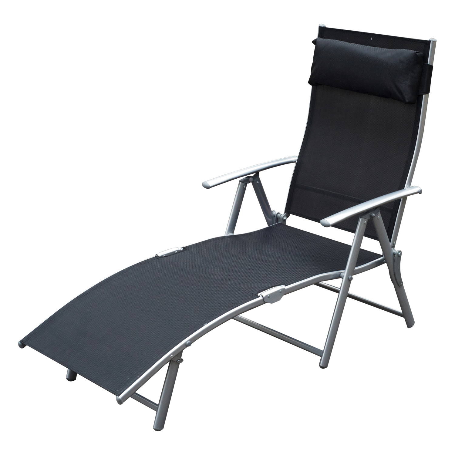 Folding Lounge Chairs Chaise Lounge Chair Folding Pool Beach Yard Adjustable