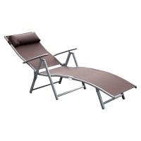 Chaise Lounge Chair Folding Pool Beach Yard Adjustable ...