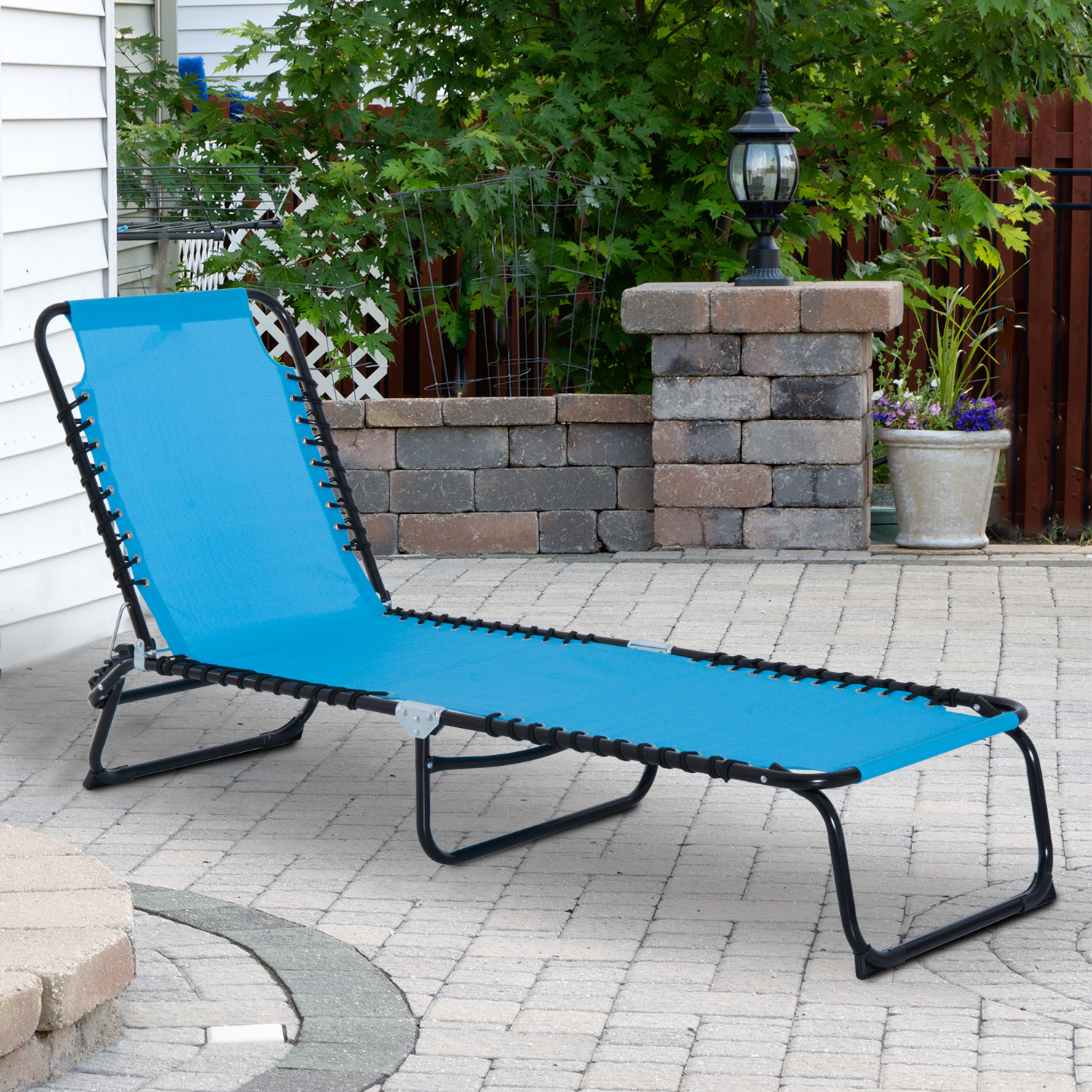Folding Sleeping Chair Details About 3 Position Portable Reclining Beach Chaise Lounge Adjustable Sleeping Light Blue
