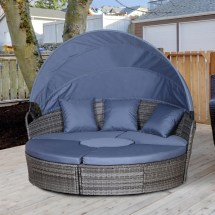 outsunny 5 pcs cushioned outdoor