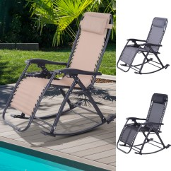 Lounge Chair Patio Four Chairs Furniture And Design Zero Gravity Recliner Rocker Home Outdoor Napping Details About Cup Holder
