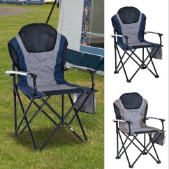 Padded Camping Chair Graco Wood High Outdoor Folding Garden Picnic Fishing Seat Details About Lounge Aluminum