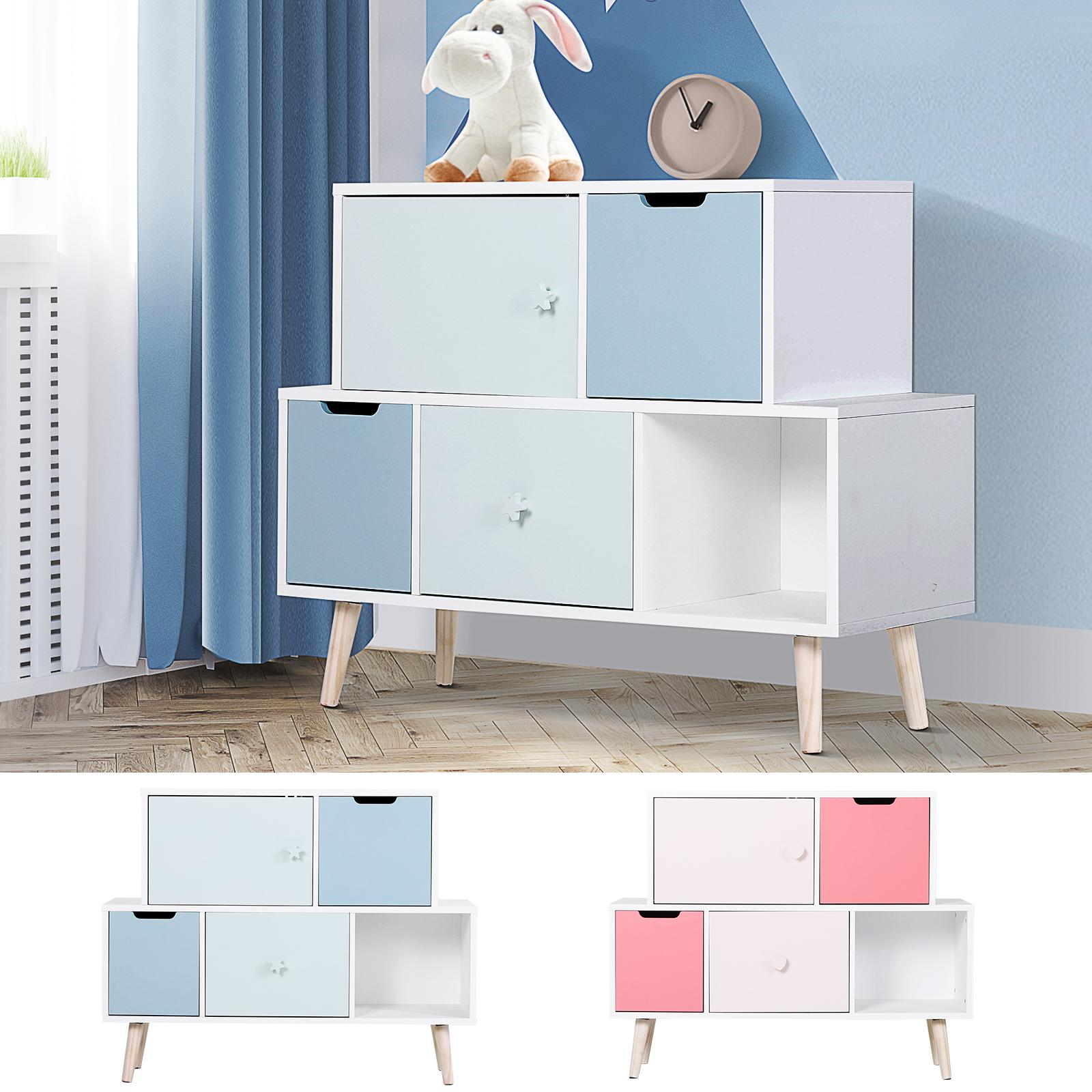 Baby Cabinet Storage Units 3 Drawer Cute Toy Storage Kids Bedroom Furniture Ebay