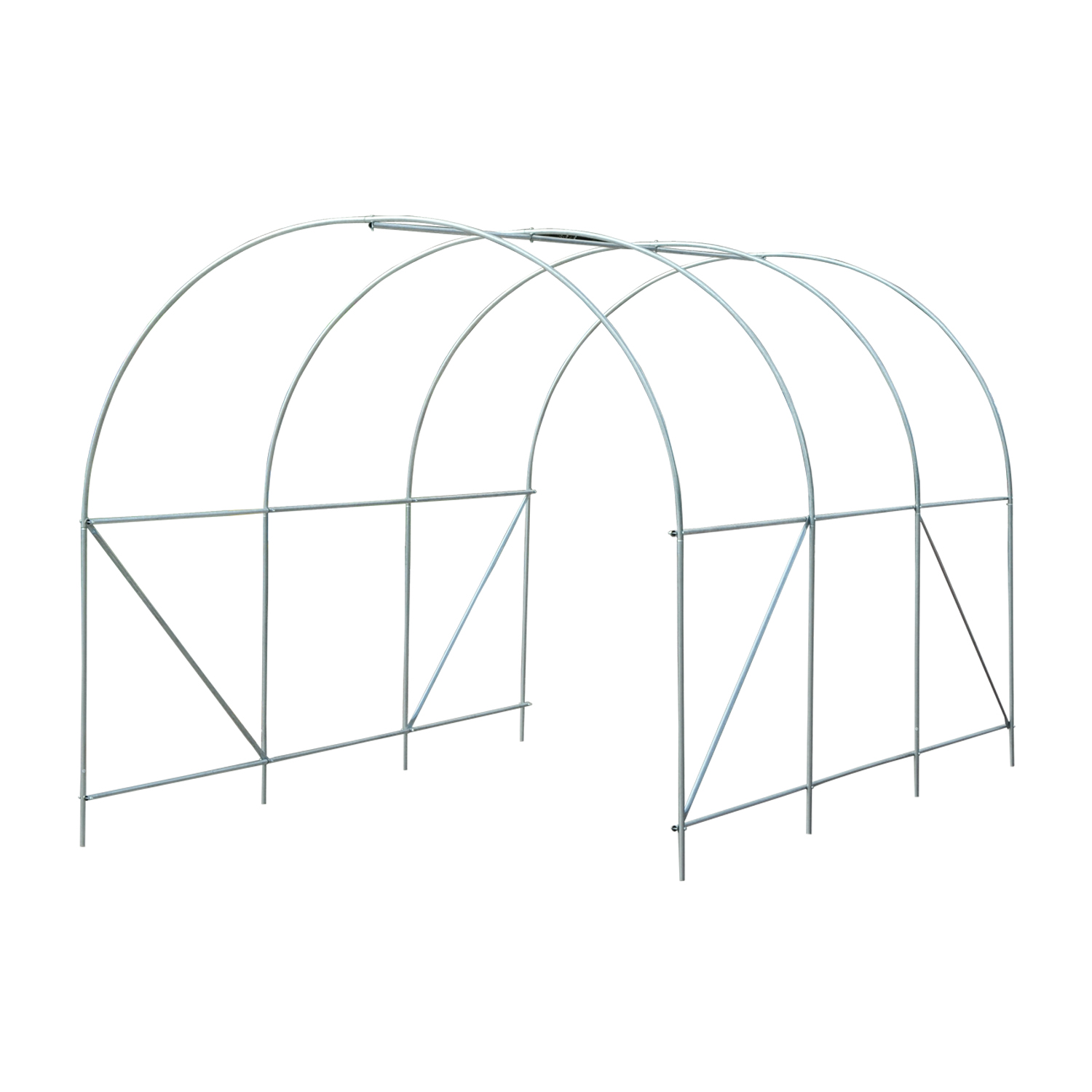 Outsunny Large Walk-in Greenhouse Poly Tunnel Galvanized