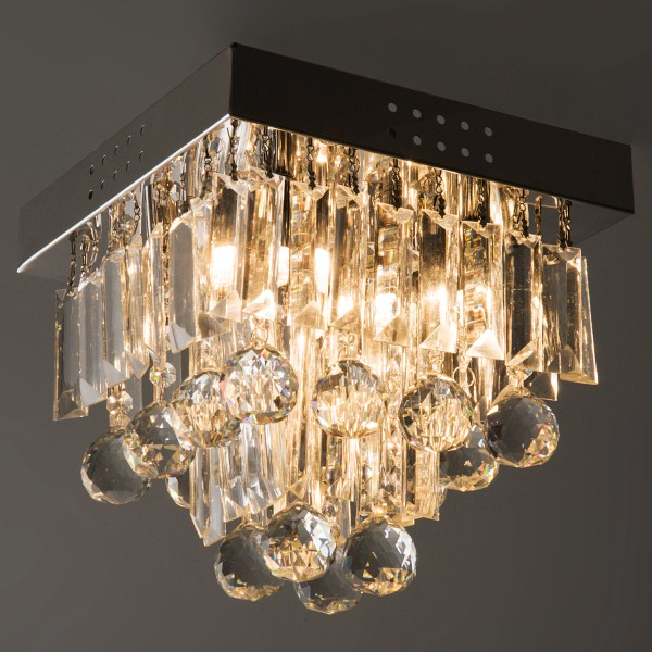 Crystal Chandelier Ceiling Mount Pendant Light Lamp Modern