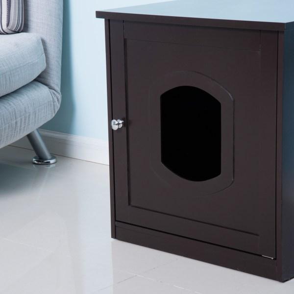 Pet Cat Litter Tray Box Toilet Puppy Washroom Crate