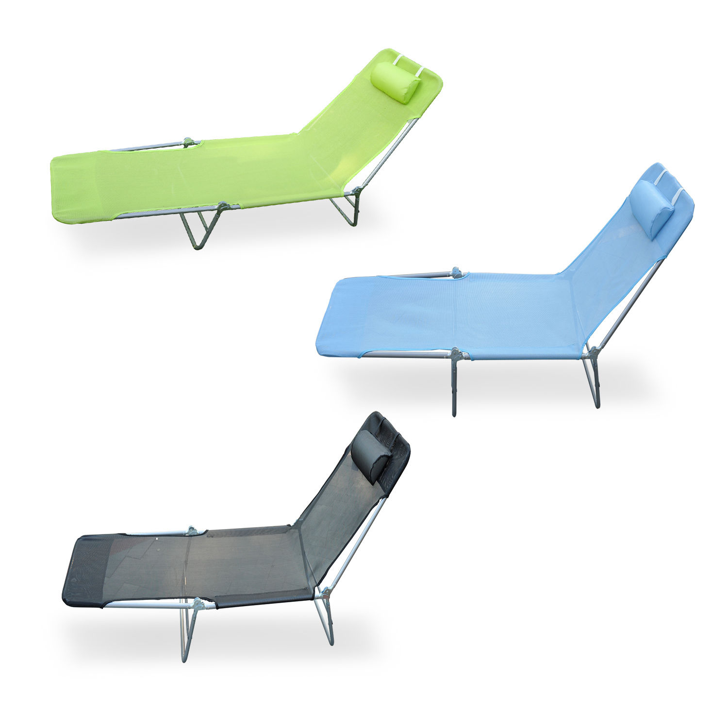outdoor folding lounge chairs grey upholstered dining chair reclining beach sun patio chaise pool details about lawn lounger