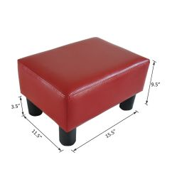 Foot Rests For Chairs Recliner Vs Chair With Ottoman Modern Faux Leather Footrest Stool Rest Small