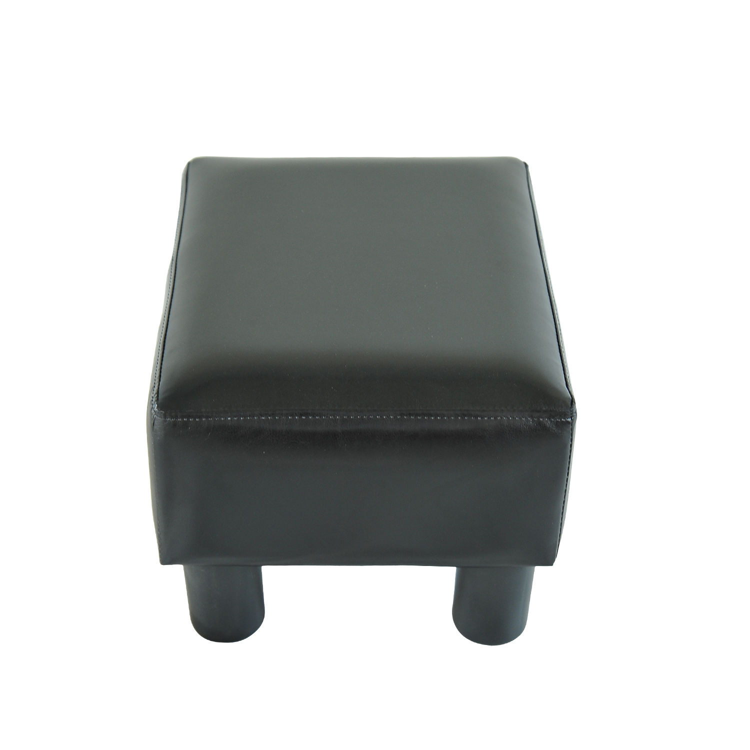 chair stool with footrest deck chairs sainsburys modern faux leather ottoman foot rest small