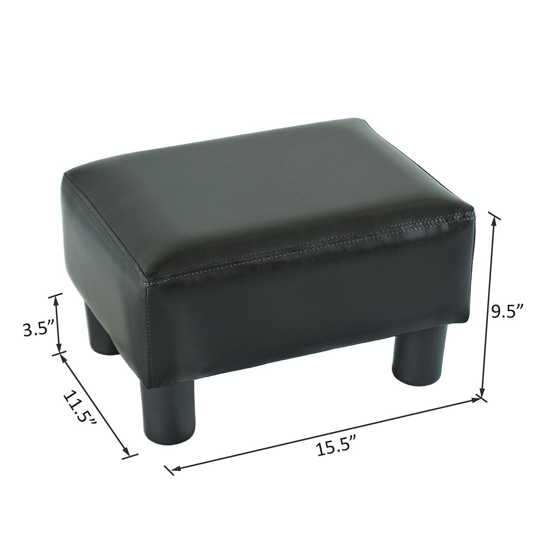 Leather Ottoman Footstool Storage