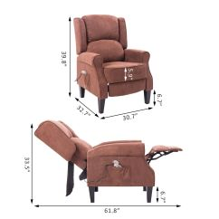 Heated Sofa Recliner Art Van Leather Sleepers Deluxe Massage Chair Ergonomic Lounge