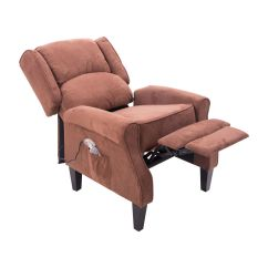 Heated Sofa Recliner Tufted Leather Nyc Deluxe Massage Chair Ergonomic Lounge