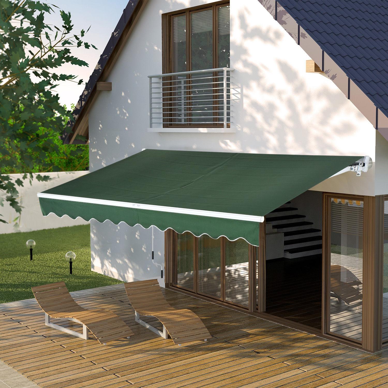 Patio Awning Canopy Retractable Deck Door Outdoor Sun