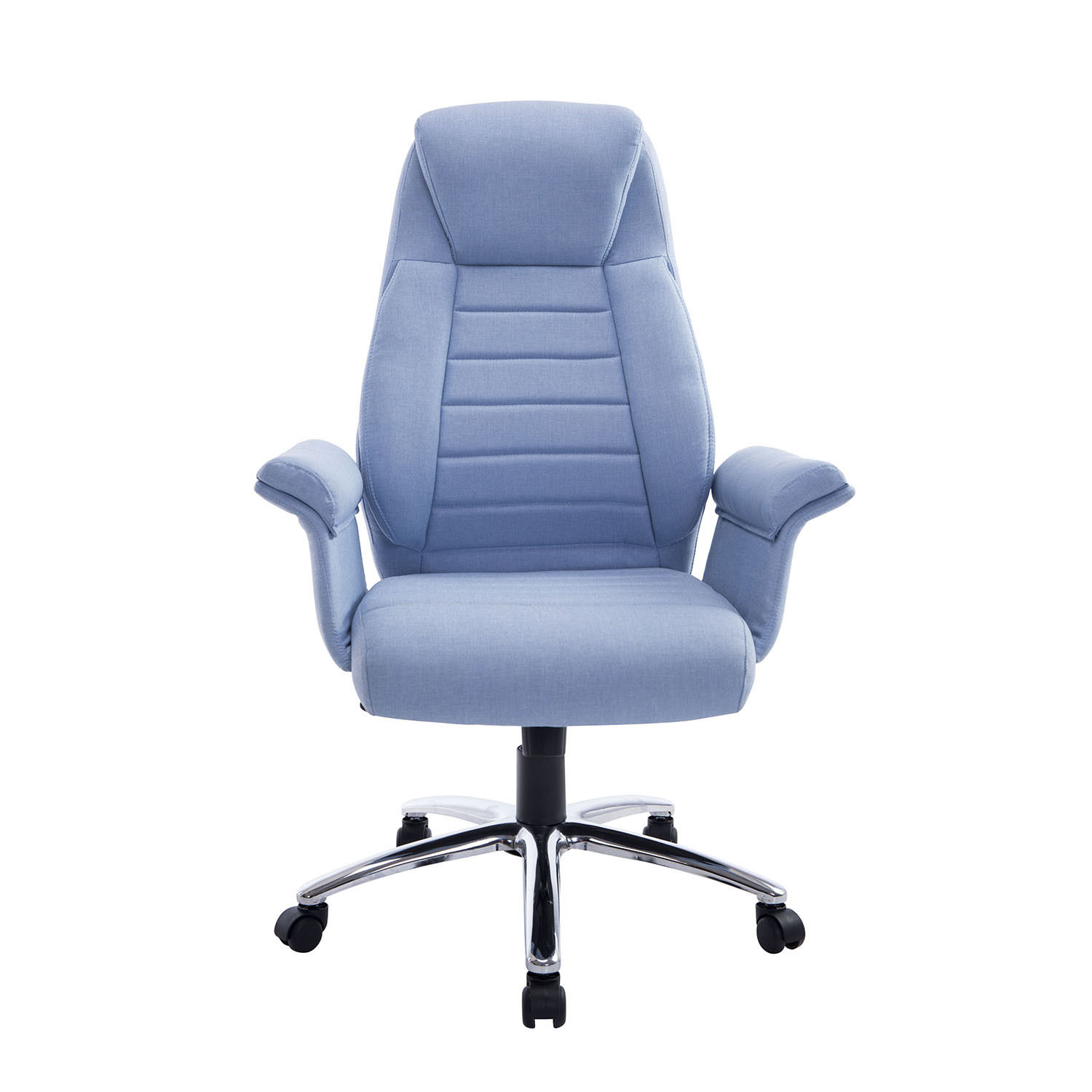 padded office chair royal blue slipper rolling executive high back swivel
