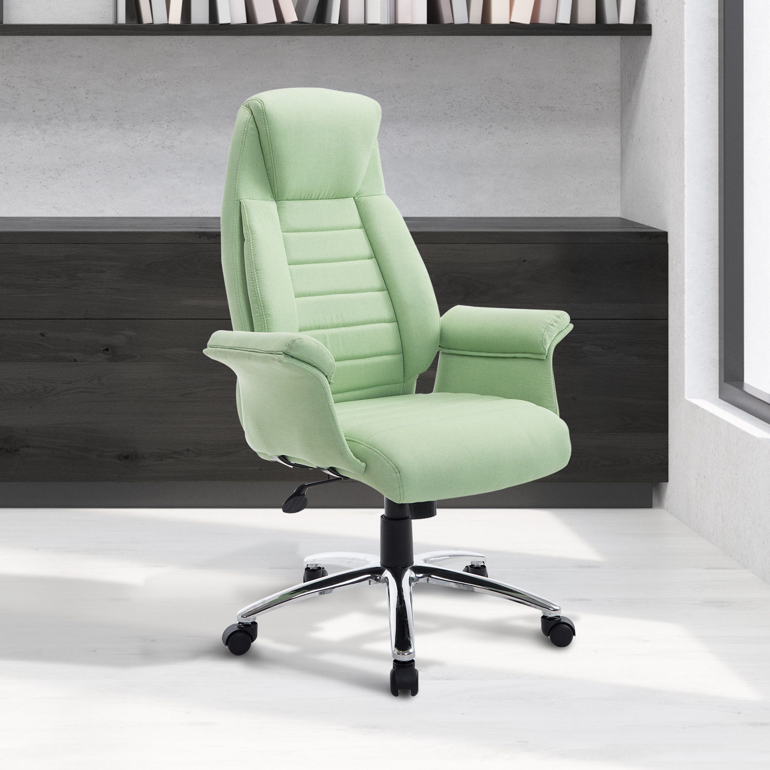 Comfortable Computer Chairs Rolling Executive Chair Office High Back Padded Swivel