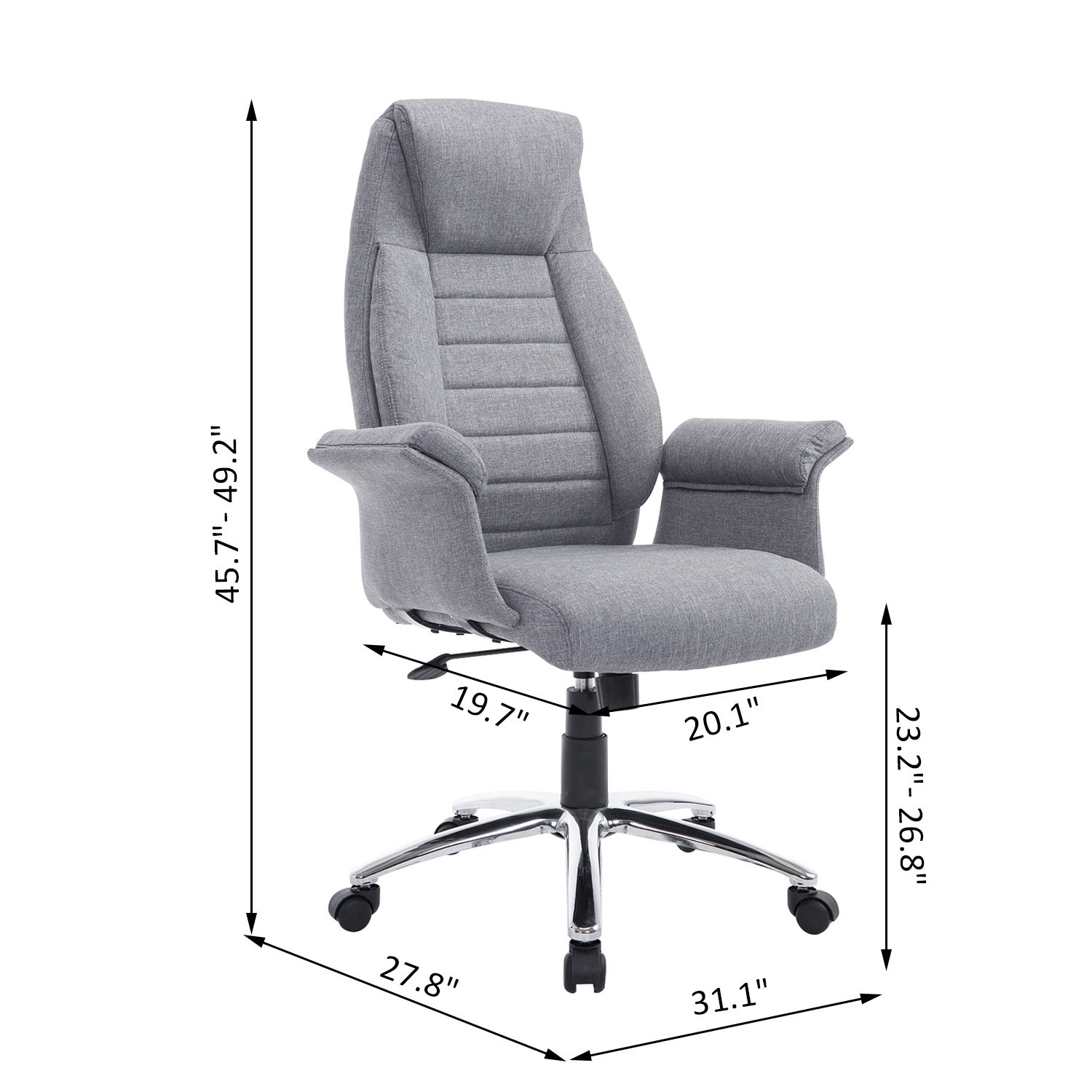 padded office chair where to buy covers for folding chairs rolling executive high back swivel
