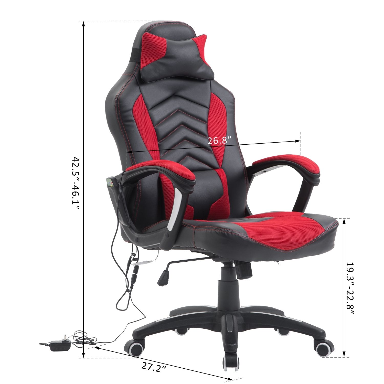 Massage Office Chair Details About Office Ergomomic Heated Vibrating Massage Chair Pu Leather Swivel Computer Seat