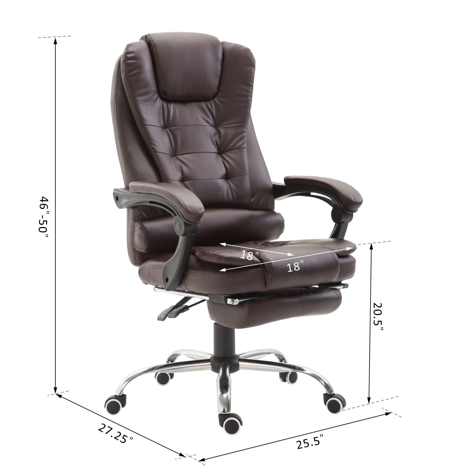 Office Nap Chair Homcom Executive Style Reclining Office Napping Chair Pu