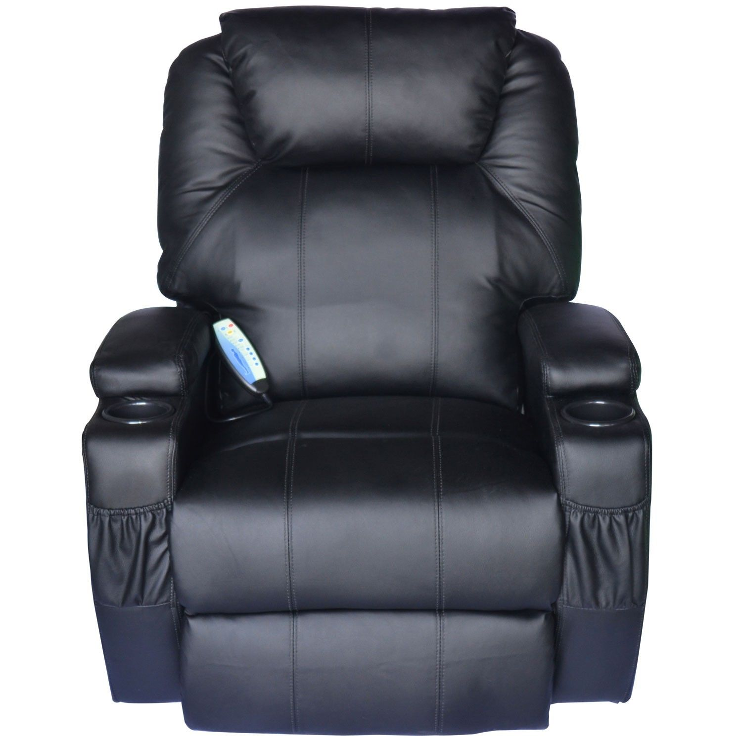 Vibrator Chair Massage Recliner Sofa Leather Vibrating Heated Chair