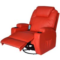 Massage Recliner Sofa Leather Vibrating Heated Chair ...