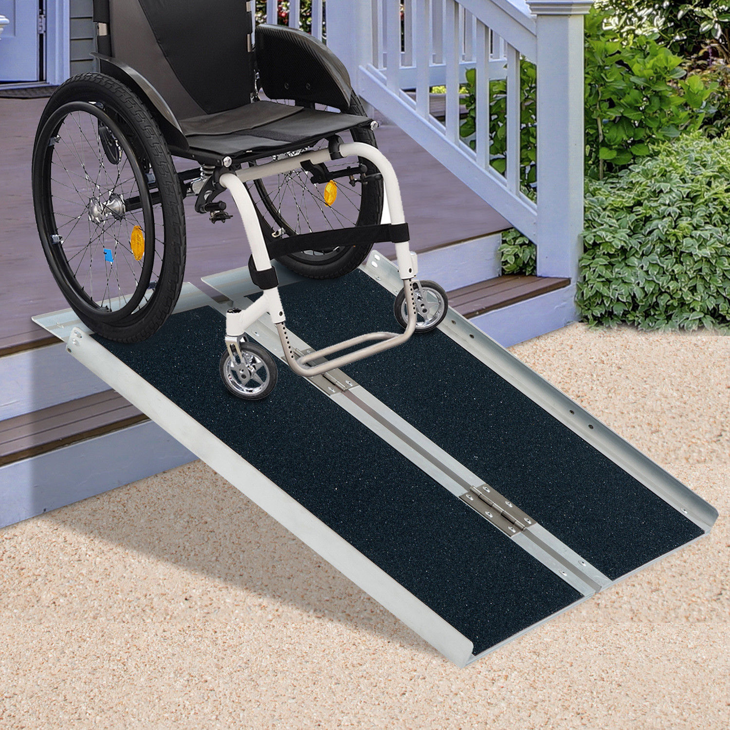 210 Aluminum Wheelchair Ramp Loading Scooter Mobility