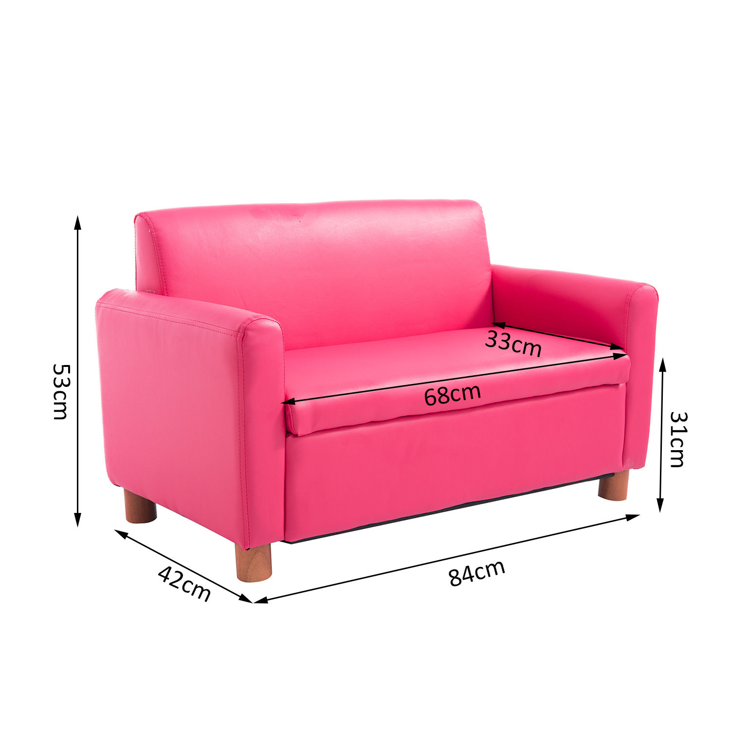 pink sofa dating uk good quality brands kids single pu leather armchair toddler couch