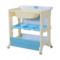 Baby Infant Changing Table Unit Rolling Bath Station ...