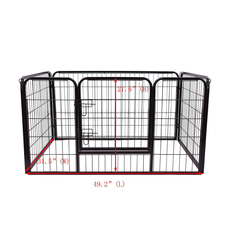 Pawhut Pet Rabbit Guinea Dog Pig Puppy Play Pen Metal Hutch Cage 125cm Length