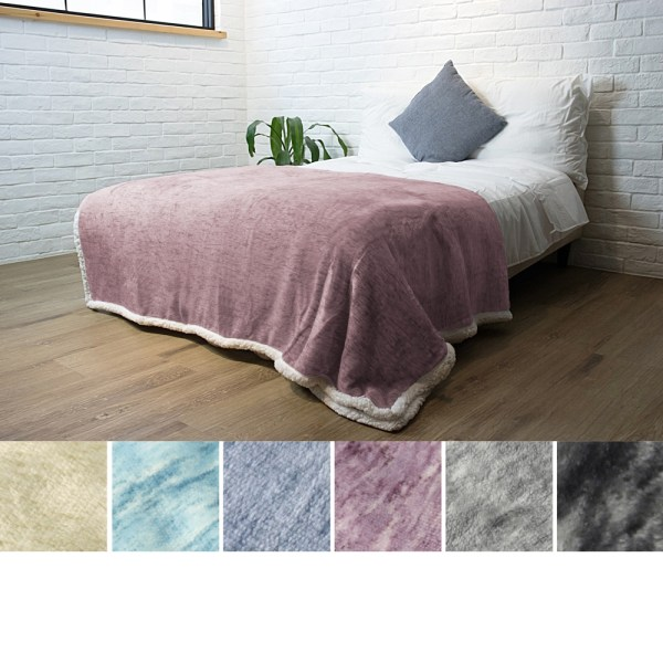 Premium Plush Sherpa Throw Blanket Sofa Couch Bed