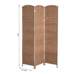 Indoor Privacy Screen Living Room Furniture Rooms With Wood Walls 3 Panel Resin Wicker Folding Divider Home