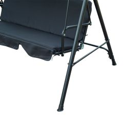 Swing Chair Steel Chairs That Make Into Beds Metal 3 Seater Outdoor Lounger With Frame And