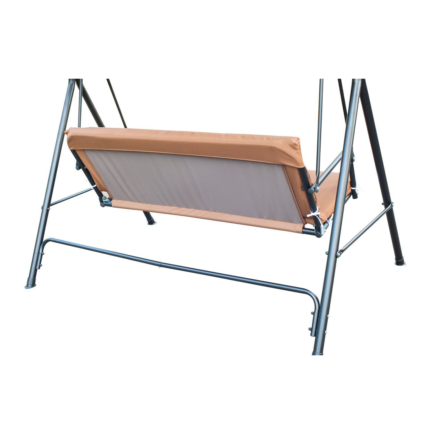 swing chair steel modern kitchen high chairs metal 3 seater outdoor lounger with frame and