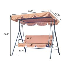Swing Chair Metal Stackable Resin Chairs 3 Seater Outdoor Lounger With Frame And