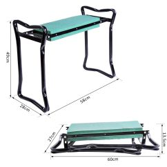 Chair Stand Test Elderly Rent Tables And Chairs Cheap Outsunny 2in1 Folding Garden Kneeler Foam Pad