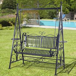 Swing Chair Office Wheelchair Stair Lift Outsunny Outdoor Metal Garden Hammock Bench