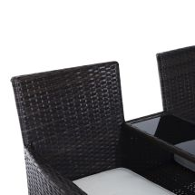 Outsunny 2 Seater Rattan Chair Garden Furniture Patio Love