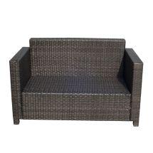 Outsunny 2 Seater Rattan Sofa Outdoor Garden Wicker Weave