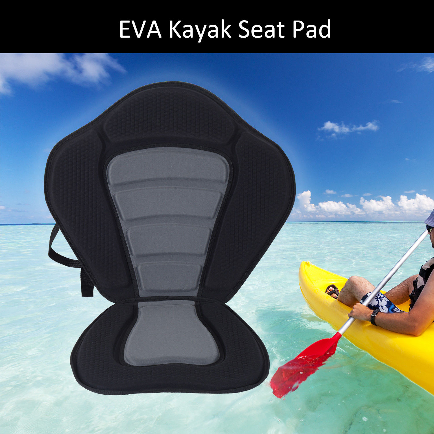 fishing chair rain cover handicap lift homcom universal kayak seat sit on top canoe back rest
