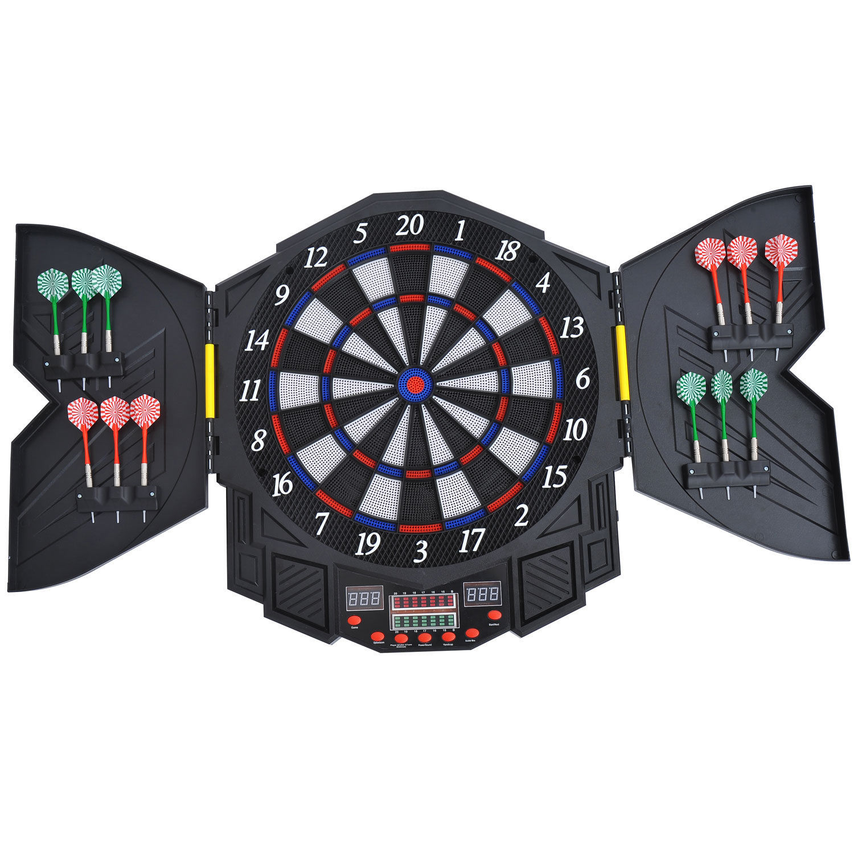 swing chair metal walmart bar chairs homcom 27 games dart board dartboard set electronic led darts game display party 5055974816503 ...