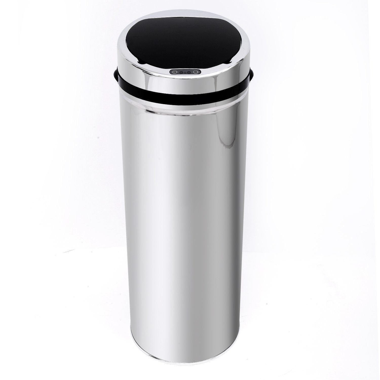 stainless steel kitchen trash can planner tool automatic sensor dustbin rubbish waste bin