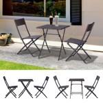 2 Chair Rattan Bistro Set Outdoor Garden Table Chair Black 3pc Grey Black Ebay