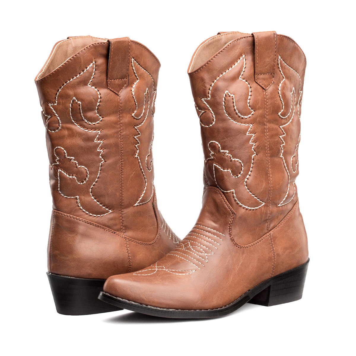 US FREE SHIP SheSole Womens Winter Cowboy Boots Mid Calf Wedding Shoes Size 611  eBay