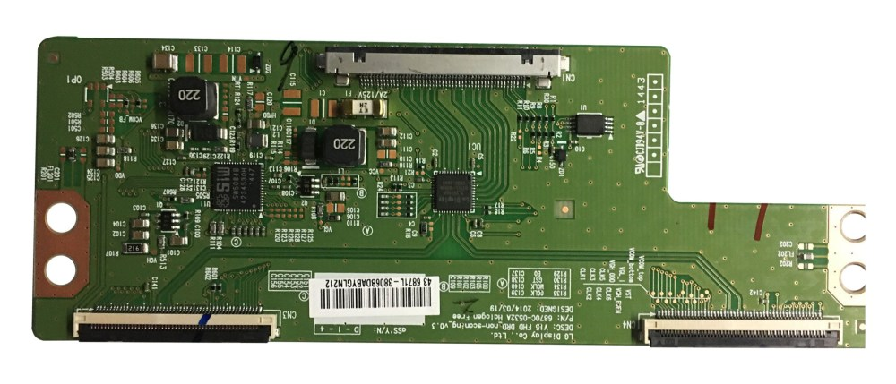 medium resolution of vizio magnavox sanyo jvc 6871l 3806b t con board