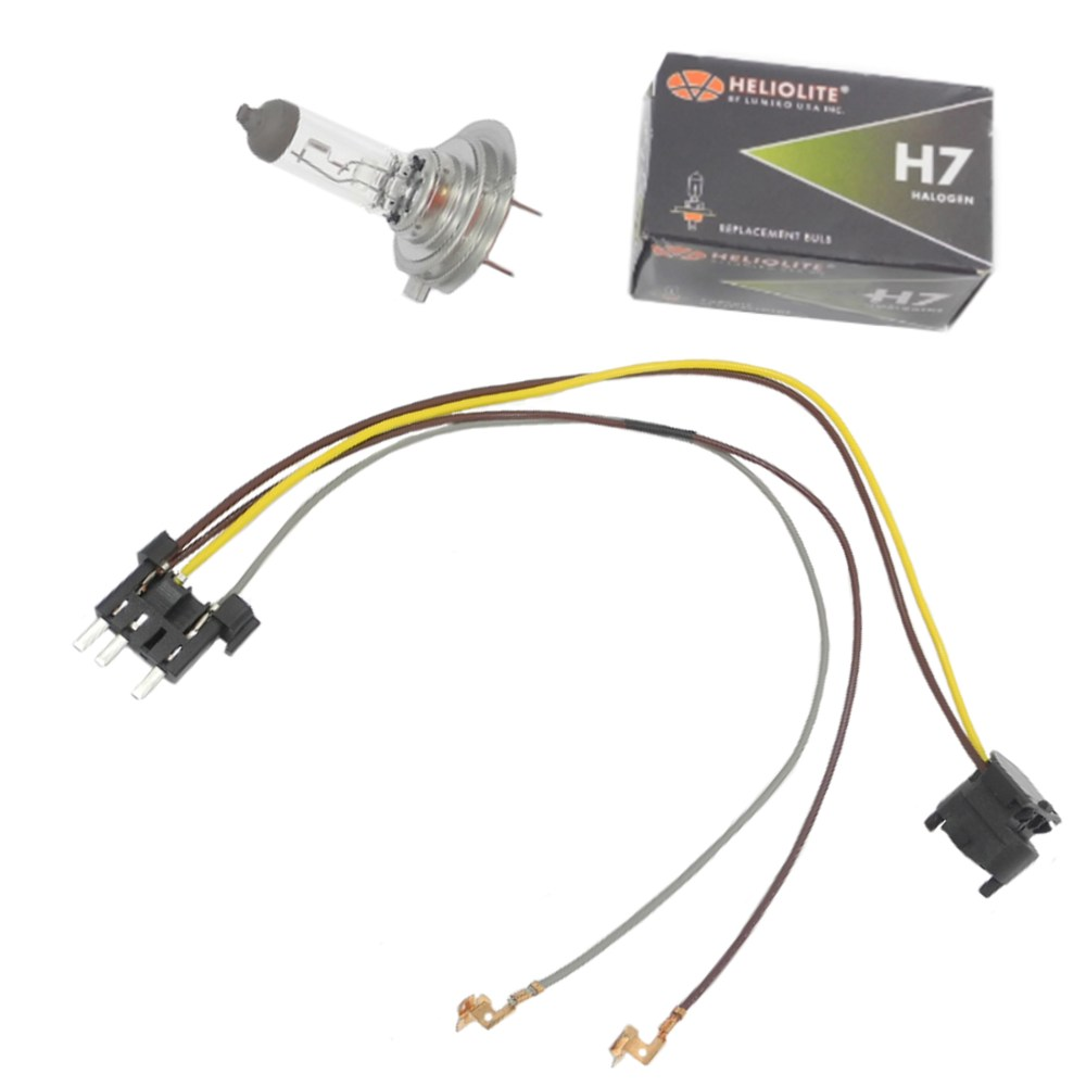medium resolution of details about headlight wiring harness h7 55w headlight bulb for benz e320 e350 left right
