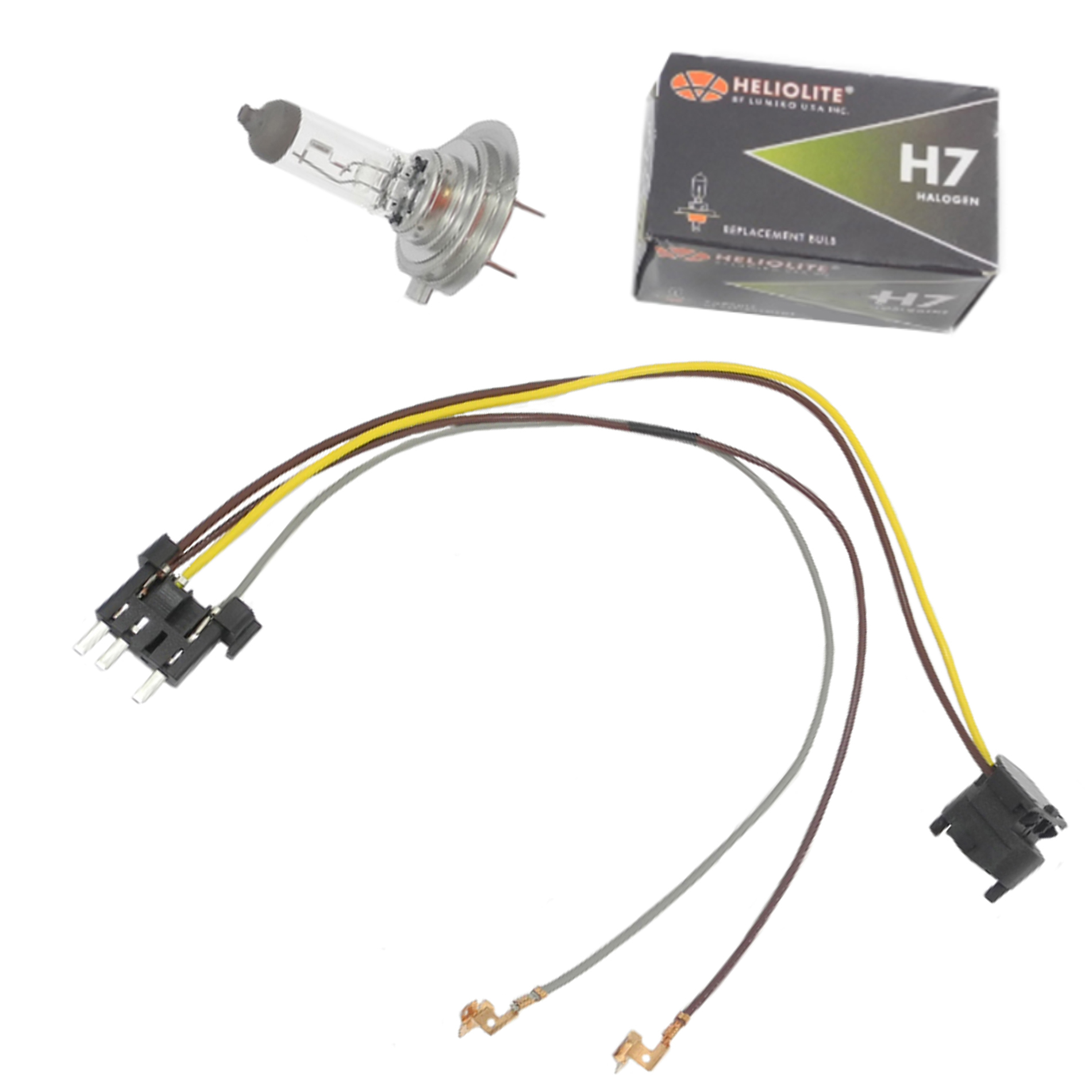 hight resolution of details about headlight wiring harness h7 55w headlight bulb for benz e320 e350 left right