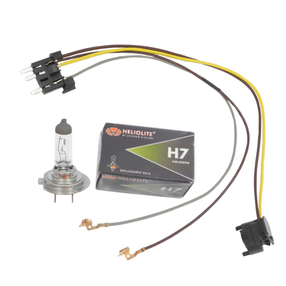 medium resolution of left right headlight wiring harness u0026 h7 55w headlight bulb for mix details about left